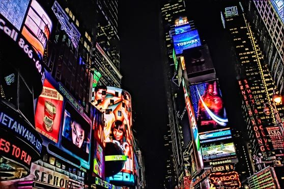 Times Square Branding 7 dimensiones