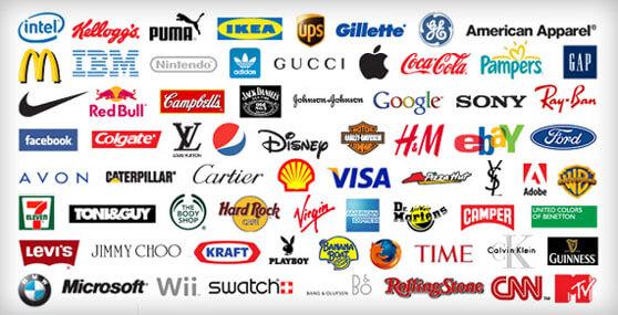 logos de marcas globales muy conocidas