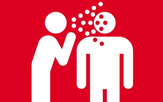 persona infectando a otra con un virus