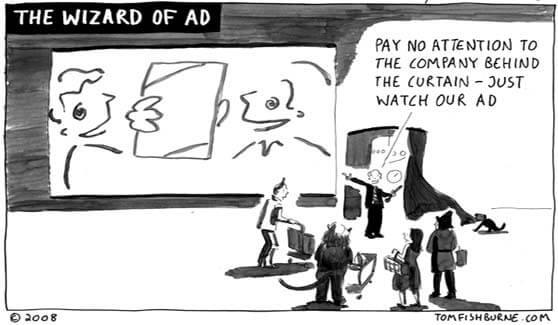 el mago de la publicidad que hay detrás de la imagen de una empresa
