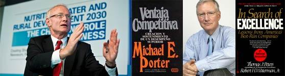 Micahel Porter Ventaja Competitiva Tom Peters En busca de la Excelencia gurús libros
