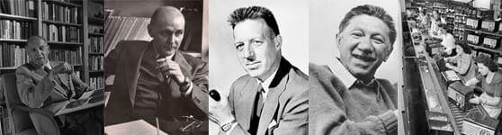 Peter Drucker Fritz Roethilsberger Douglas McGregor Abraham Maslow Hawthorne Experiment