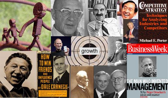 Management Masters Porter Levitt Kaplan Omahe Drucker Jobs Rogers Maslow