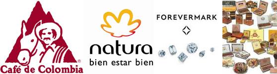 marcas Cafe de Colombia Natura Forever Mark Habanos logotipos