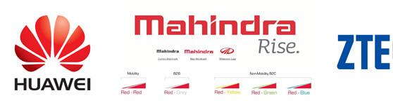marcas Huawei Mahindra ZTE logos