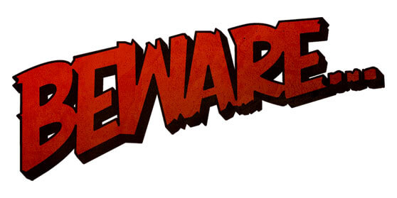 letras beware advertencia tipo comic