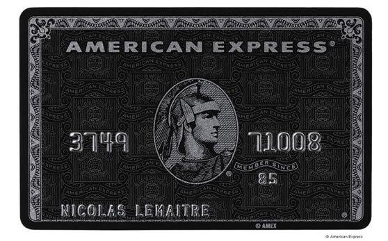 Imagen tarjeta de crédito American Express Centurion lujo