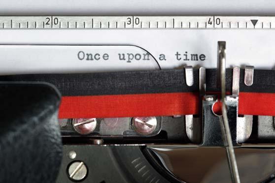 máquina de escribir con la frase once upon a time