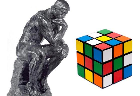 Pensador Rodin Cubo Rubik