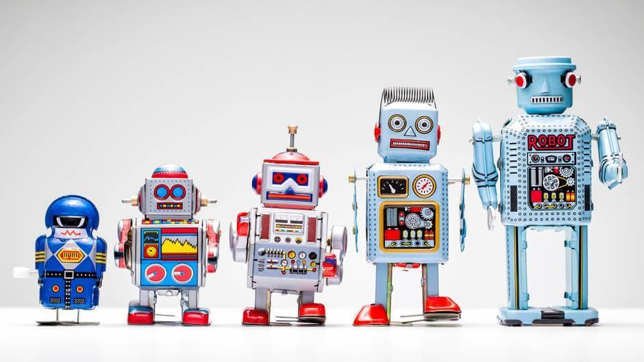 Fila de Robots vintage