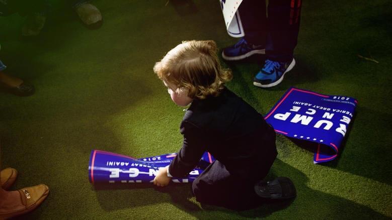 niño en convención republicana Trump